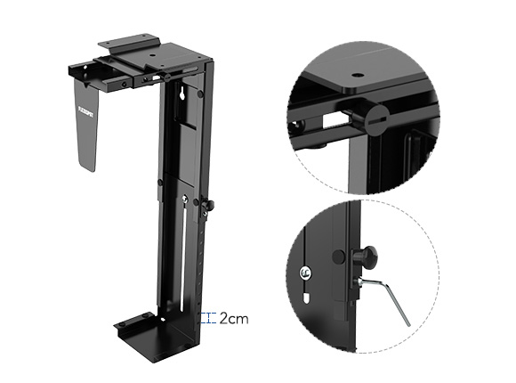 FlexiSpot CH1 Adjustable CPU Holder and Under-Desk CPU Mount 3