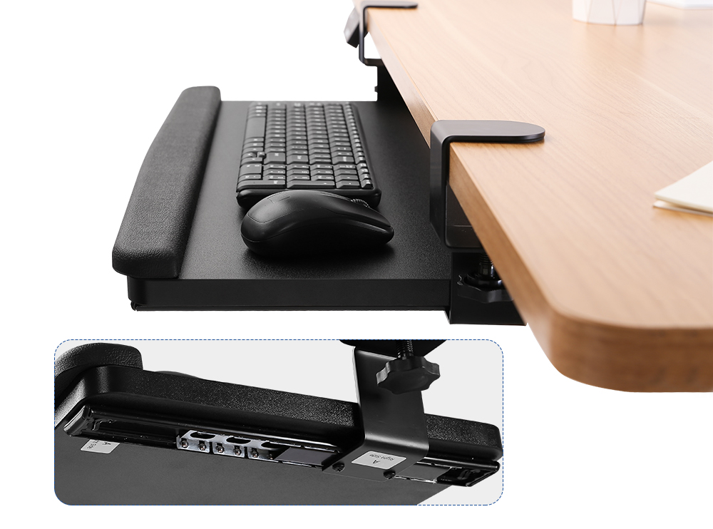 Flexispot retractable/tilting keyboard tray kt1 2